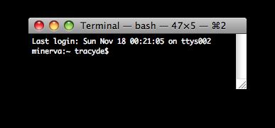 Default OS X Terminal